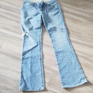 Joe's Honey Ripped Blue Jeans Size 28 Wide Legs